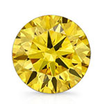 Round Yellow Diamond