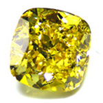 Vivid Yellow Cushion Diamond