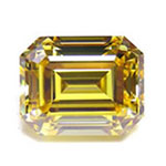 Vivid Yellow Emerald Cut Diamond