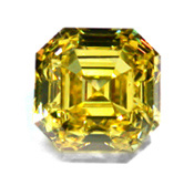 Vivid Yellow Asscher Diamond