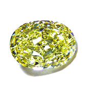 Fancy Vivid Yellow Oval Diamond